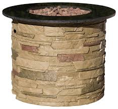 Fire Pit Lava Rock by Rogers Outdoor Round Liquid Propane Fire Pit With Lava Rocks
