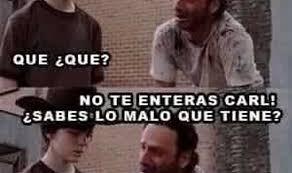 Meme Carl - the walking dead los memes m磧s locos de rick y caaaaarl zeleb es