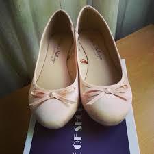 light pink ballet flats ballet flat shoes size 8 us in light pink satin on luulla