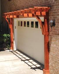 garage arbor custom made wood garage arbor kit for sale