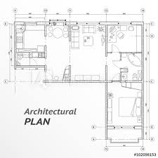 home design elements architectural set of furniture on apartment plan with sizes