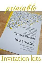 Do It Yourself Wedding Invitation Kits Our Homemade Wedding Invitations Wedding Ideas Pinterest