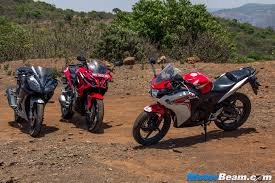 cbr top model price yamaha r15 vs pulsar rs 200 vs honda cbr150r review shootout
