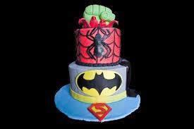 superheroes superman batman spiderman hulk gâteaux cakes