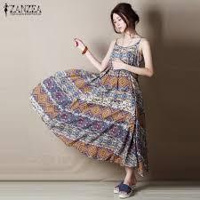 sleeveless dress boho maxi dress vintage bohemian style casual sleeveless