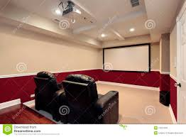 media room with home theater chairs royalty free stock photos