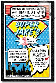 Book Birthday Card Superhero Comic Book Birthday Invitations Di 356 Ministry