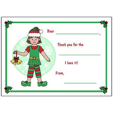 christmas thank you cards christmas girl fill in the blank thank you note cards for kids