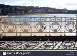 ornamental iron fence san sebastian la concha guipuzcoa
