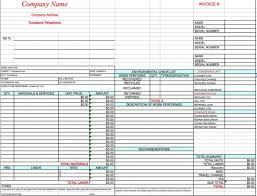 Inspection Checklist Template Excel 18 Free Hvac Invoice Templates Demplates