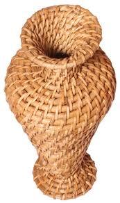 Wholesale Home Decor Items 12 U201d Beige Cane Stems Flower Vase In Bulk U2013 Wholesale Hand Woven