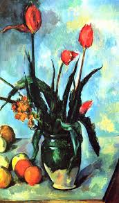 Madame Cezanne In A Red Armchair Tulips In A Vase 1892 By Paul Cezanne Art Pinterest