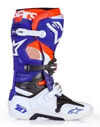 motocross boots alpinestars alpinestars indianapolis tech 10 le motocross boots white blue