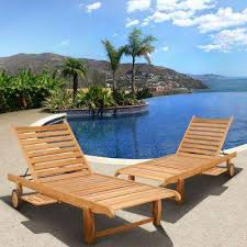 Lounge Patio Chair Teak Outdoor Chaise Lounges Patio Chairs The Home Depot
