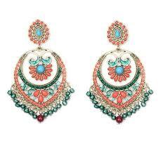Huge Chandelier Earrings Bohemian Ethnic Brincos Resin Beaded Big Chandelier Earrings