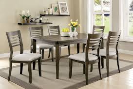 grey dining room chairs buy furniture of america cm3988gy t set dwight iii gray dining