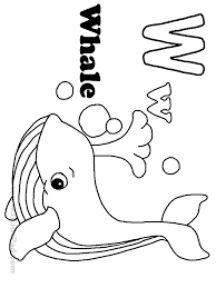letter w whale coloring pages alphabet printable kids colouring