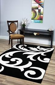 5 8 Area Rugs Area Rugs Metro Black Damask Rug 5 By 8 5 8