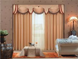 charming grand curtain with green valance and cloth materials