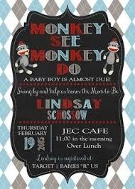 sock monkey baby shower invitations template resume builder
