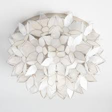 capiz flush mount light capiz petal flush mount ceiling light world market