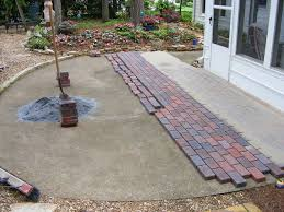 Patio Pavers Concrete Patio Pavers New With Installing Pavers Your