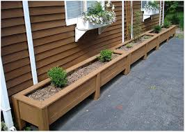 Backyard Planter Ideas Backyards Ergonomic Garden Design With Planter Box Designs Build
