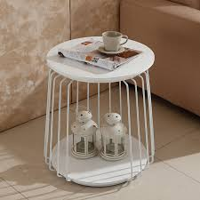 sheet metal coffee table simple and modern new round of the hardware sheet metal double angle
