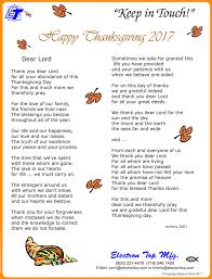 a prayer of thanks from electron top