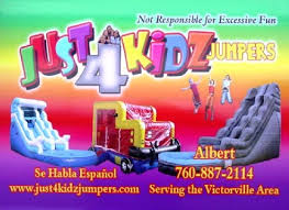 party rentals victorville just 4 kidz jumpers