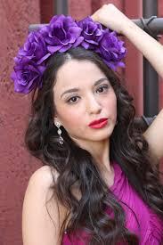 purple rose flower crown headband headpiece bridal flower crown