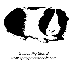 guinea pig stencil the site has other free printables to use for