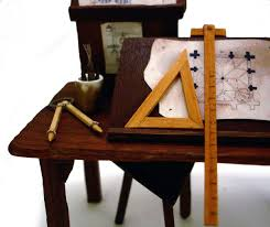 Drafting Table Tools Bo Press Miniature Books Medieval Drafting Table