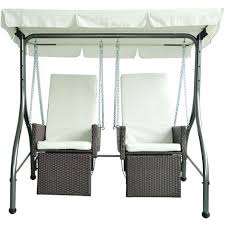 Rattan Swing Bench Outsunny Rattan Garden 2 Seater Swing Chair Hammock Bench Bed