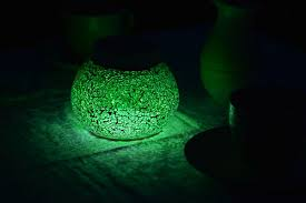 table solar lights shamrock green by free light crafted