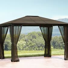 garden u0026 outdoor screened gazebo hardtop gazebo gazebos at lowes
