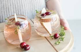 a thanksgiving toast pear thyme fizz the citizenry