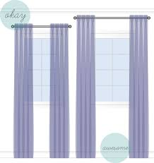 Hanging Curtains High And Wide Designs Tara Free Interior Design Designer How To Hanging Drapes