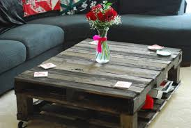 Small Rustic Coffee Table Beautiful Rustic Coffee Table Centerpiece From Red Flower Bouquet
