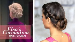 frozen u0027s coronation up do hairstyle youtube