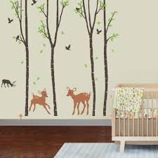 white vinyl tree wall decal bird with swing sticker gray large size baby nursery wonderful removable tree wall decal reindeer vinyl art animal forest