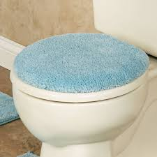 Aqua Bathroom Rugs by Comforel Toilet Lid Covers Or Striped Bath Rugs