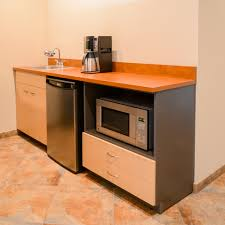 mini kitchen can work in tiny house office guest space