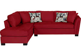 Red Sectional Sofas Cindy Crawford Home Calvin Heights Cardinal 2 Pc Sectional
