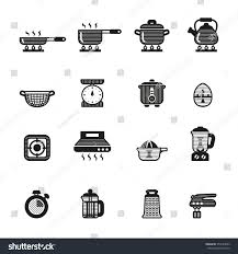 cooking kitchen tools utensils icons set stock vector 357644003