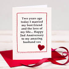 2nd anniversary gift ideas for husband handmade second anniversary card by arnott cards gifts