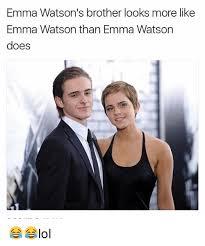 Emma Watson Meme - emma watson s brother looks more like emma watson than emma watson