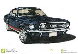 van ford 1967 de mustang gt fastback van ford redactionele fotografie