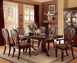furniture of america cm3527t cm3527ac cm3527sc harwinton 9 pieces harwinton cm3527t 9 pieces traditional cherry finish dining table set