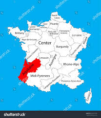 Map Of Provence Vector Map State Aquitaine France Vector Stock Vector 326273576